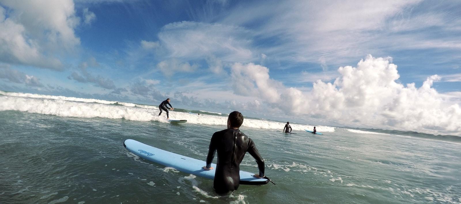 Raglan Surf Lessons for beginners.