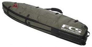A boardbag for travel.