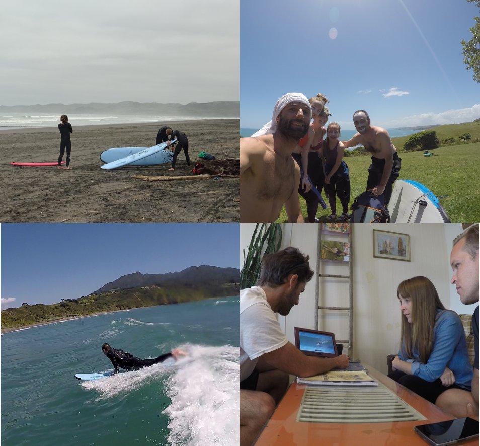 Raglan surf school photos from UP Surf Coaching.