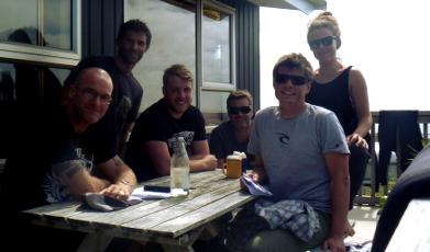 The team from the Raglan Intermediate Surf Coaching Camp 2015