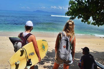 A beginner surf trip in Indonesia.
