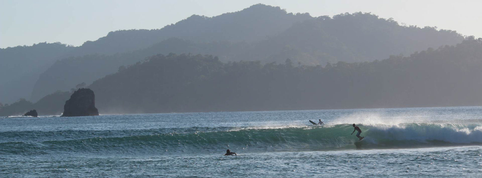 Beginner level surf coaching camp in Indonesia.