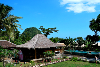 Hang out here on our surf trip to Indonesia.