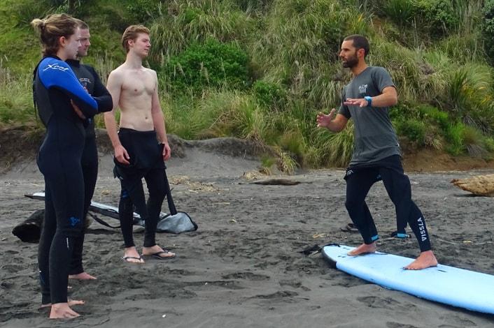 Beginner Surf Course in Raglan.
