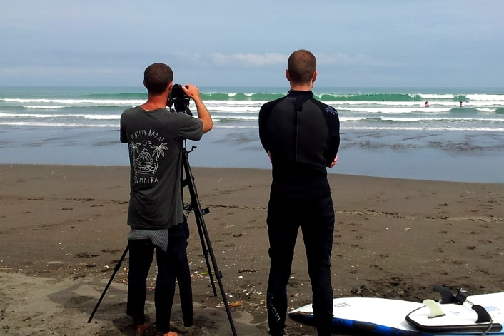 Free photos on our surf course.