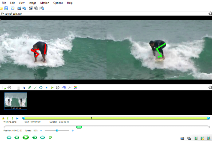 Identify your surfing problems with coaching for intermediates.